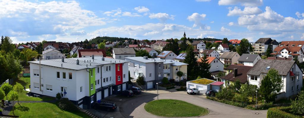 Panoramablick von der Wohnung in Aalen